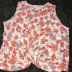 Plus size J Jill love linen floral top sleeveless